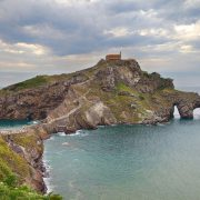 Islet of San Juan de Gaztelugatxe on the Biscay coast, Basque Country.
