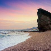 Playa de Los Muertos or Beach of the Dead in Cabo de Gata-Nijar Natural Park. Carboneras. Province of Almeria. Southern Spain